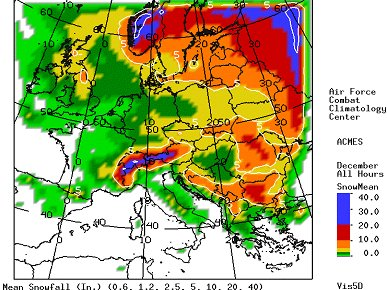 Snow Map Europe.Forecasting Heavy Snowfall To Southern Germany And Alps